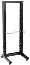 Однорамная стойка ITK, 42U, 600x600, на роликах, черная ( LF05-42U66-1R )