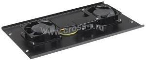 ITK Потолочная вентиляторная панель без термостата, 2 вентилятора, черная ( FM05-21 )