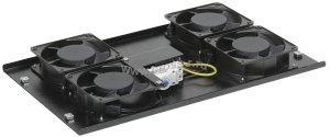 Потолочная вентиляторная панель ITK с термостатом, 4 вент., черная ( FM05-42 )