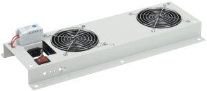 Потолочная вентиляторная панель ITK с термостатом, 2 вентилятора, серая ( FM35-22 )