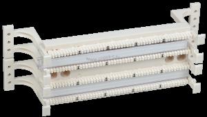 ITK Кросс-панель на кронштейне 100-парная 110 т. (модули в комплекте)  ( CP100-110-1 )