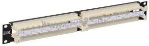 "ITK 19 кросс-панель 100-парная, 1U, 110 т. (модули в комплекте) ( CP100-1U110 ) """