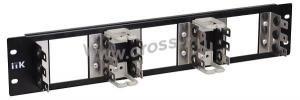 ITK 3U рама для 15 плинтов типа Krone, LSA-PLUS, черная ( KF150-3U05A )