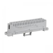 Плинт ITK 10 пар, аналог Krone, маркировка 1-0, серый ( PL10P-CON10 )