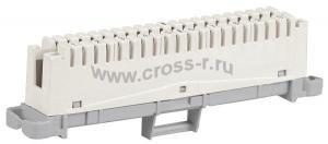 Плинт размыкаемый ITK, 10 пар, аналог Krone, маркировка 1-0, бел ( PL10P-DIS01 )