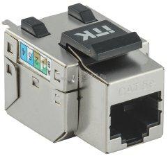 Модуль ITK Keystone Jack кат. 5E FTP 110 IDC 90 град. розет. ( CS1-1C5EF-11 )