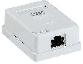 Настенная информационная разетка ITK RJ45 кат. 5E FTP 1-порт ( CS2-1C5EF-12 )