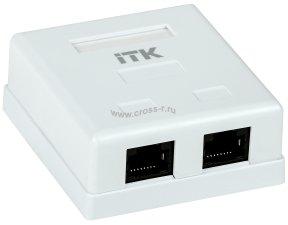 Внутренняя информационная разетка ITK RJ45, кат.5Е UTP, 2-порта ( CS2-1C5EU-21 )