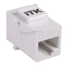 Проходной адаптер ITK кат.5E UTP, RJ45-RJ45, тип Keystone Jack ( CS7-1C5EU )