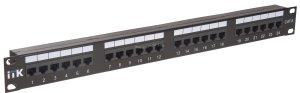 1U патч-панель ITK кат.6 UTP, 24 порта (Dual) ( PP24-1UC6U-D05 )