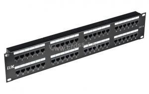 2U патч-панель ITK кат.6 UTP, 48 портов (Dual) ( PP48-2UC6U-D05 )