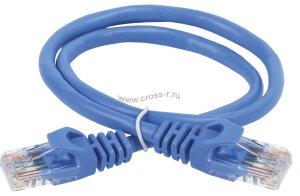 Коммутационный шнур ITK (патч-корд), кат.6 UTP, 0,5м, синий ( PC03-C6U-05M )