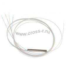 Ответвитель оптический 1х4 PLC одномод. (G657A1)  равномерный  1260-1650 nm, 1-1.5 m, 0.9 mm ( PLC-1x4-SM(G657A1)-1.5m-0.9 )