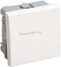 ВКО-21-00-П Выключатель одноклавишный (на 2 модуля) ПРАЙМЕР белый IEK ( CKK-40D-VO2-K01 )